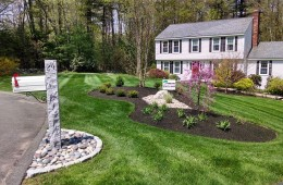 Granite Mailbox with Flowerbed & Plant Installation- No. Andover, MA